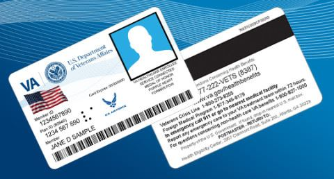 Veteran Health ID Card Sample